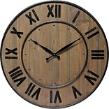 Infinity Instruments 24 Wood Wine Barrel Wall Clock