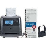 Pyramid 5000, 100 Employee, Auto Totaling Time Clock, Black