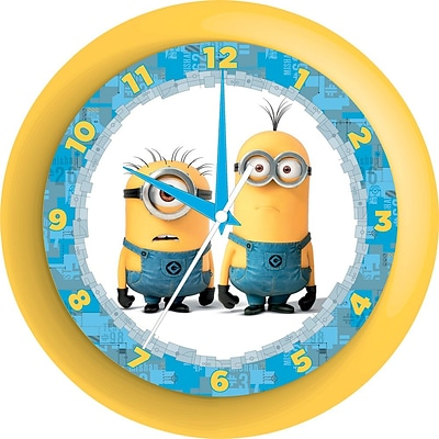 Pixar Despicable Me Minions Wall Clock, 9.75