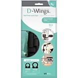 D-WINGS CORD CONTROL ASSORTED BLACK 18/set