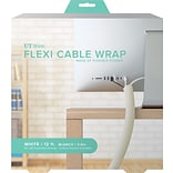 12 FLEXI CABLE WRAP, WHITE