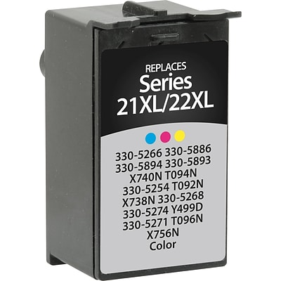 Quill Brand® Remanufactured Ink Cartridge, Dell 22 (330-5266/330-5886/330-5894/330-5893/X740N/T094N), Tri-Color, High Yield