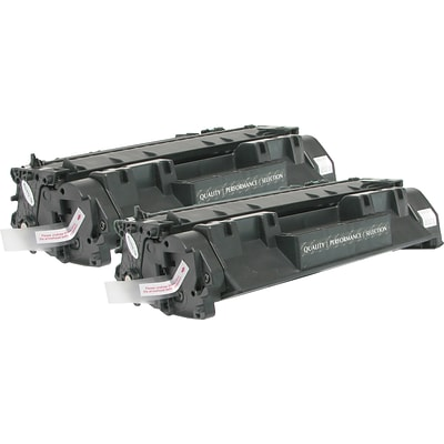 Quill Brand Remanufactured HP 05A Toner Multi-pack (2 cart per pack) (100% Satisfaction Guaranteed)