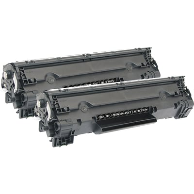Quill Brand® Remanufactured HP 78A Black Standard Laser Toner Cartridge 2/Pack (CE278D) (Lifetime Warranty)