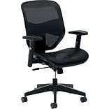 basyx by HON® VL534 High-Back Office Chair with Adjustable Arms, Mesh, Black, Seat: 22W x 21D, Bac