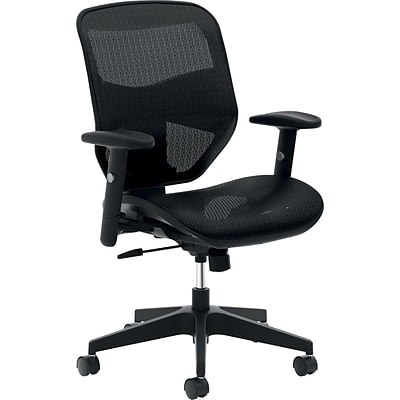 basyx by HON® VL534 High-Back Office Chair with Adjustable Arms, Mesh, Black NEXT2017 NEXT2Day