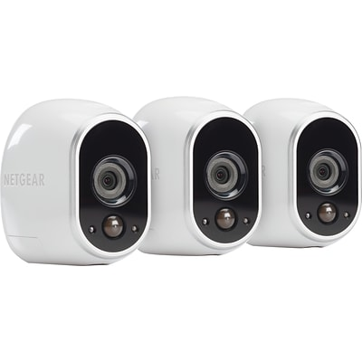 NETGEAR Arlo Smart Home Security Camera System w/ 3 HD, Wireless, Indoor/Outdoor w/ Night Vision
