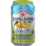 San Pellegrino® Sparkling Fruit Beverages, Pompelmo/Grapefruit, 11.15oz. Can, 12/PK