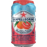 San Pellegrino® Sparkling Fruit Beverages, Aranciata Rossa/Blood Orange, 11.15oz. Can, 12/PK