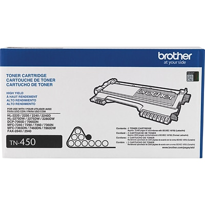 Brother TN450 Black Toner Cartridge, High Yield