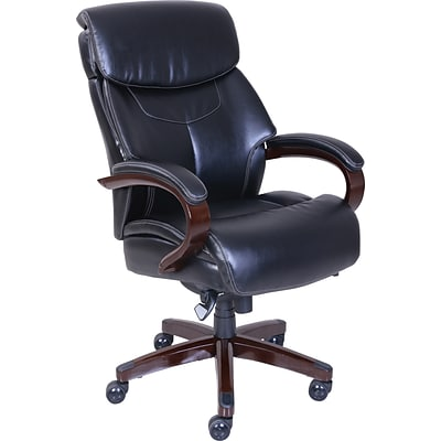 La Z Boy Bradley Bonded Leather Executive Chair, Black