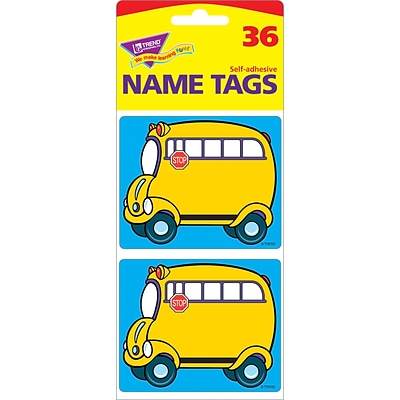 Name Tags, School Bus