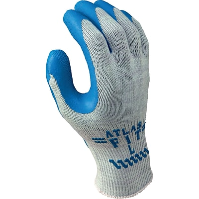 Best Manufacturing Company Gray/Blue Rubber Palm Coating Gloves, S
