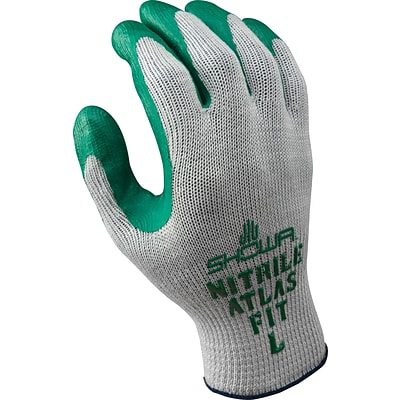 Best Manufacturing Company Green & Gray 72 per case Gripster Glove, L
