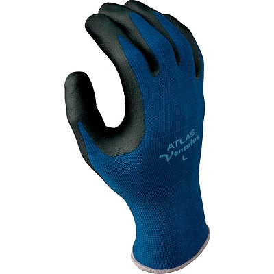 Best Manufacturing Company Black & Blue Strongest Grip 1 Pair Ventulus Gloves, M