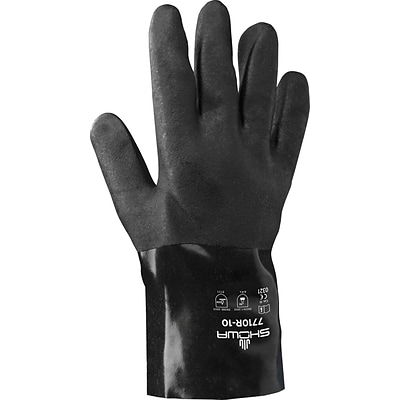 Best Manufacturing Company Black Chemical Resistant 12/Pack Gauntlet Gloves
