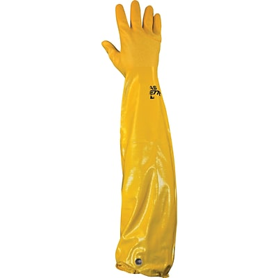 Best Manufacturing Company Yellow Chemical Resistant 1 Pair Nitrile Glove