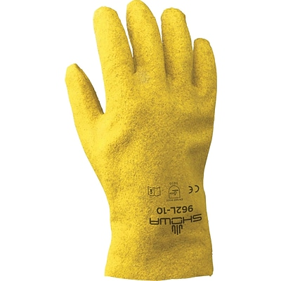 Best Manufacturing Company Yellow PVC Coated 12/Pack Heavy Duty Work Gloves, L