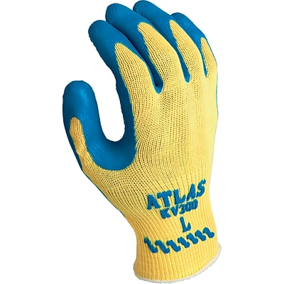 Best Manufacturing Company Yellow & Blue Palm Coating Cut-Resistant Gloves, L