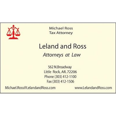 Standard classic laid business card ivory quill classic laid business card 2 color 1 side printing ivory colourmoves