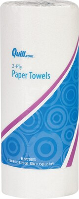 Quill Brand® Kitchen Paper Towels, 2-Ply, 85 Sheets/Roll (7HH290)