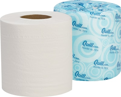 Quill Brand 2Ply Bathroom Tissue 100 Recycled 500 SheetsRoll