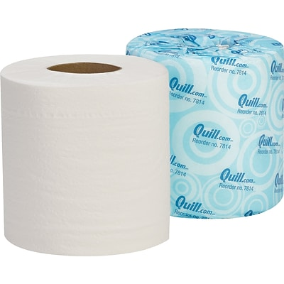 Quill Brand® Toilet Paper, 100% Recycled, 2-Ply, 500 Sheets/Roll, 96 Rolls/Carton (7814-QCC)