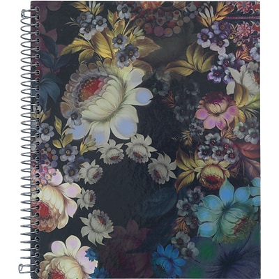 Cynthia Rowley Notebook, Black Cosmic Floral