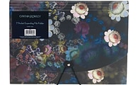 Cynthia Rowley Dark Floral 7-pocket expanding file