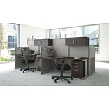 Bush 65x33D Straight Wrkstation Strge Chair
