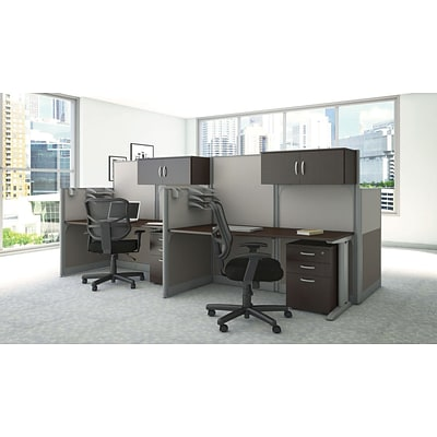 Bush Business Office in an Hour Collection 65W x 33D Straight Workstation with Storage and Chair
