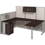 Bush Business Office in an Hour Collection 89x65 U Workstation w/Storage & Accessory Kit-Installed