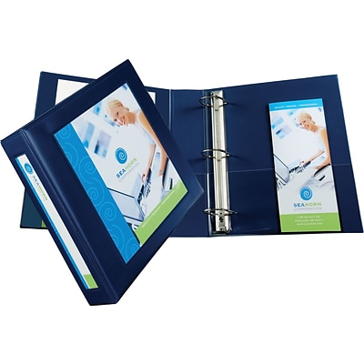 Avery(R) Framed View Binder with 2 One Touch EZD(TM) Rings 68033, Navy Blue