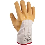 Best Manufacturing Company Palm Coated 1 pair Natural Coated Gloves, Wrinkle