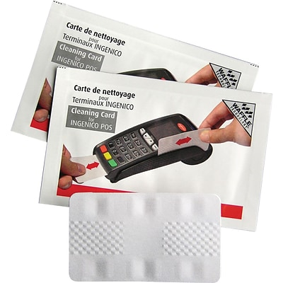 Ingenico Card Terminal Cleaning Card featuring Waffletechnology, 40 Cards  per box (2931)