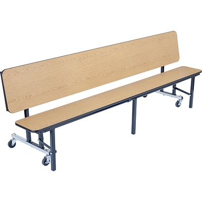 NPS® 6 Mobile Convertible Bench, Light Oak