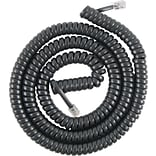 GE Telephone Coil Cord, 25 Ft, Black