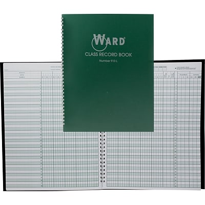 Ward® Class Record Book (for 9 or 10 week grading periods)