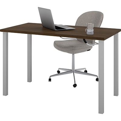 Bestar® 24x48 Table with Square Metal Legs; Tuxedo
