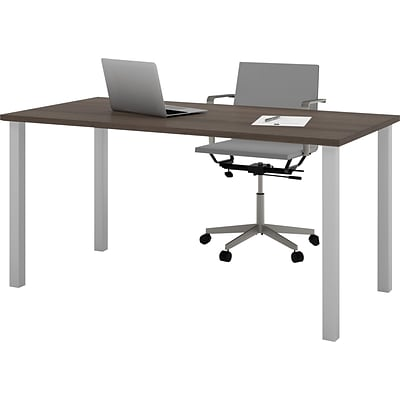 Bestar® 30x60 Table with Square Metal Legs; Antigua