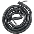 GE Telephone Coil Cord, 12ft, Black