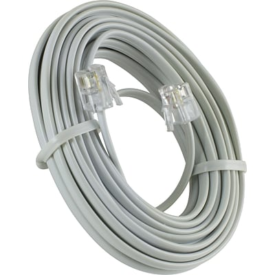GE 15 Line Phone Cord (White)
