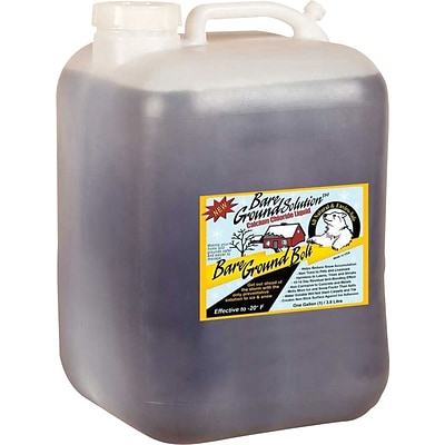 Bare Ground Bolt, Ice Melt, Pet Friendly, Calcium Chloride Liquid, 5 Gallon