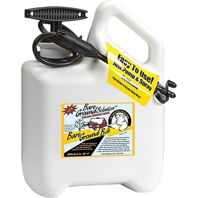 Bare Ground Bolt, Ice Melt, Pet Friendly, Battery Sprayer System Preloaded w/ 1 Gallon Calc Chloride