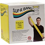 Sup-R Band® Latex-Free Exercise Band; Yellow, X-Light, 50 Yard