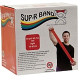 Sup-R Band® Latex-Free Exercise Band; Red, Light, 50 Yard