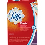 Puffs® Basic Family Facial Tissue, 2-Ply, 180 Sheets/Box, 3 Boxes/Pack (PGC 84381/34458)