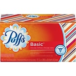 Buy 6 Puffs® Basic Facial Tissue, 2-Ply, Family Size, 180 Sheets/Box, get 6 free