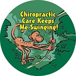 Medical Arts Press® Chiropractor Stickers,  Monkey Swinging