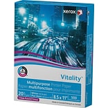 Xerox® Vitality™ Multipurpose Printer Paper; 8-1/2x11, 3-Hole Punched